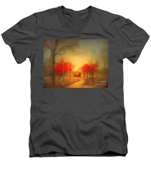 The Fire Trees Men's V-Neck T-Shirt
