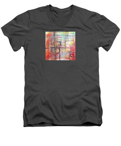The Fire Within Men's V-Neck T-Shirt by Rebecca Davis