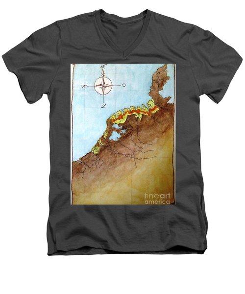 The First Frisians Men's V-Neck T-Shirt by Annemeet Hasidi- van der Leij