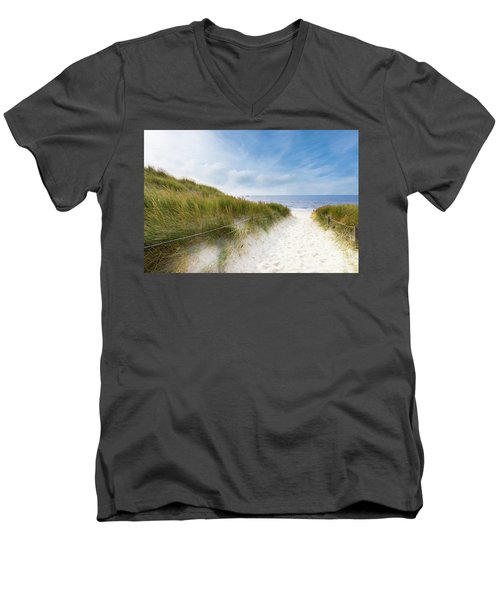 The First Look At The Sea Men's V-Neck T-Shirt by Hannes Cmarits