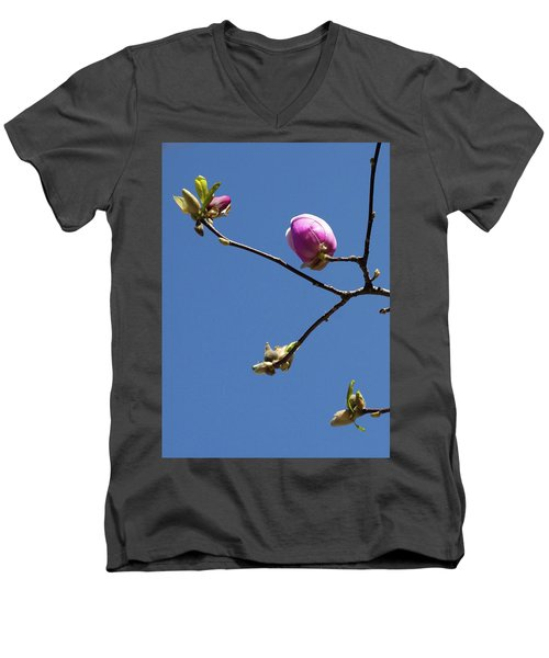 The First To Bloom Men's V-Neck T-Shirt