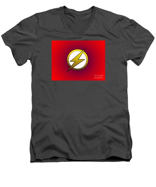 The Flash  Men's V-Neck T-Shirt by Justin Moore