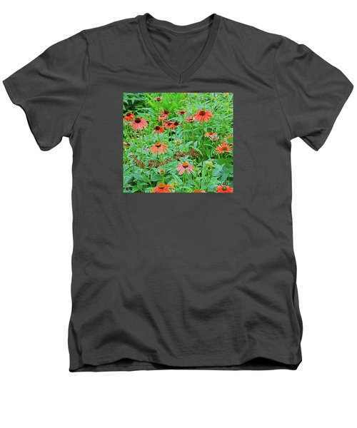 The Flower Garden Men's V-Neck T-Shirt