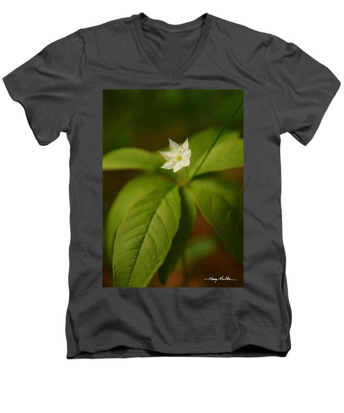 The Flower Of The Dark Woods Men's V-Neck T-Shirt