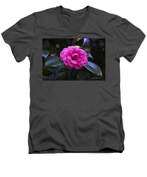 The Flower Signed Men's V-Neck T-Shirt