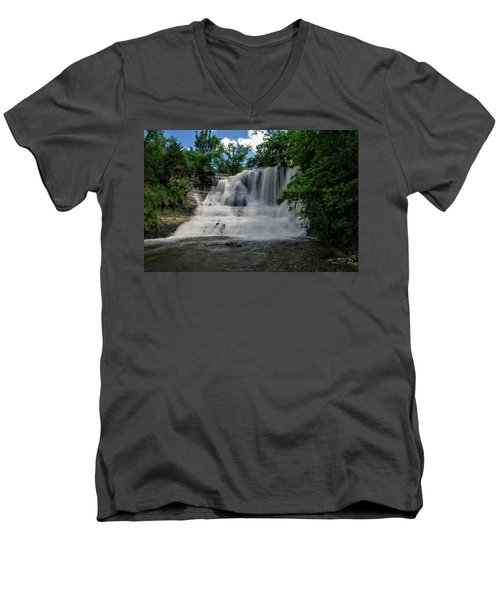 The Flowing Falls Men's V-Neck T-Shirt