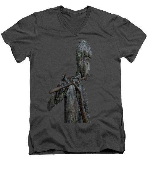 The Flute Player Men's V-Neck T-Shirt