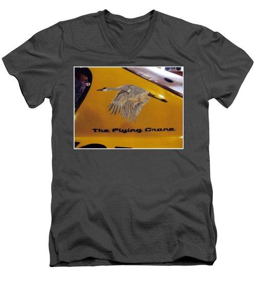 The Flying Crane Men's V-Neck T-Shirt
