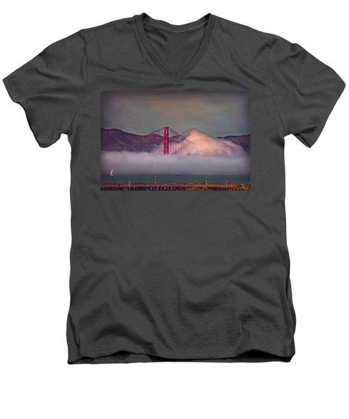 The Fog Men's V-Neck T-Shirt by Hanny Heim