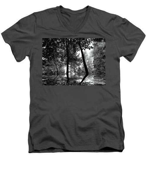 Men's V-Neck T-Shirt featuring the photograph The Forest by Elfriede Fulda
