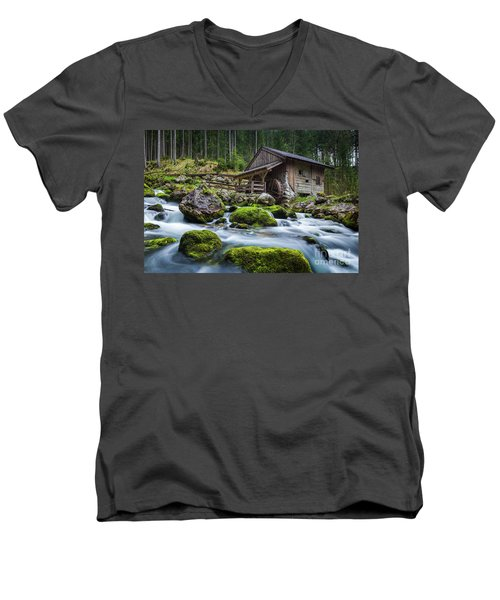 The Forgotten Mill Men's V-Neck T-Shirt by JR Photography