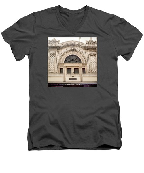 The Forum Cafeteria Facade Men's V-Neck T-Shirt