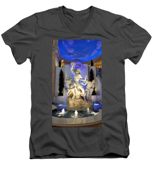 The Forum Shop Statues At Ceasars Palace Men's V-Neck T-Shirt