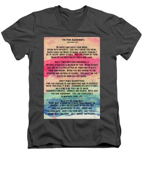 The Four Agreements 11 Men's V-Neck T-Shirt