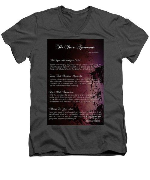 The Four Agreements 3 Men's V-Neck T-Shirt