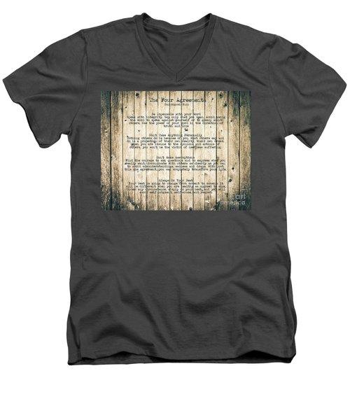 The Four Agreements 8 Men's V-Neck T-Shirt