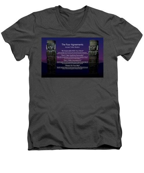 The Four Agreements Poster Men's V-Neck T-Shirt