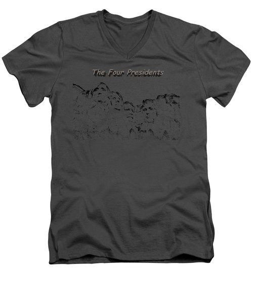 The Four Presidents 2 Men's V-Neck T-Shirt
