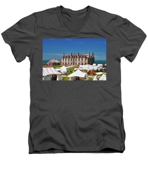The French Castle 6709 Men's V-Neck T-Shirt