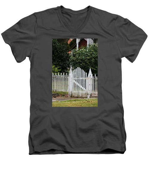 The Front Gate Men's V-Neck T-Shirt by Lynn Jordan