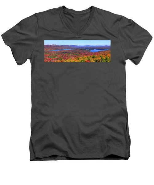 The Fulton Chain Of Lakes Men's V-Neck T-Shirt