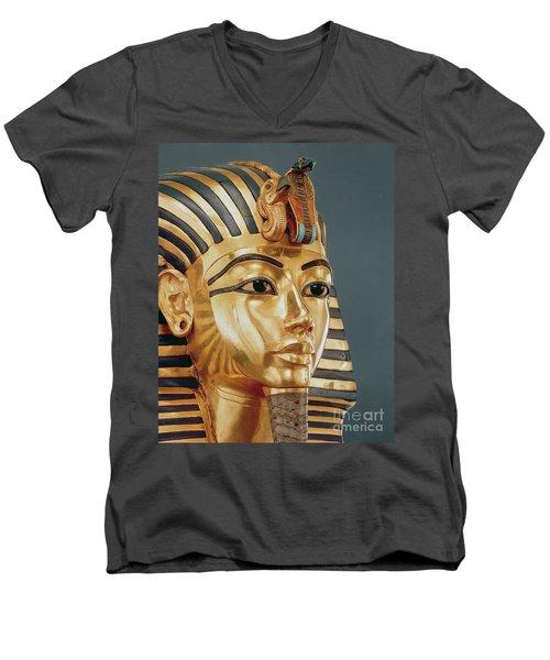 The Funerary Mask Of Tutankhamun Men's V-Neck T-Shirt