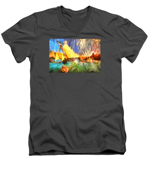 The Fury Men's V-Neck T-Shirt by Jack Torcello