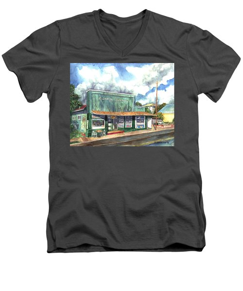 The Garcia Building Men's V-Neck T-Shirt
