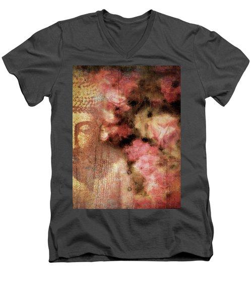 The Garden Buddha 1 Men's V-Neck T-Shirt