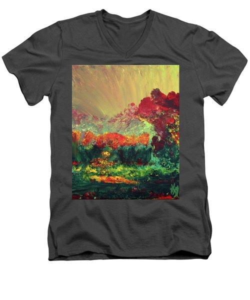 The Garden Men's V-Neck T-Shirt by Karen Nicholson