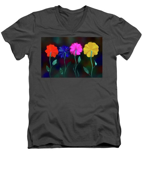 Men's V-Neck T-Shirt featuring the photograph The Garden by Paul Wear
