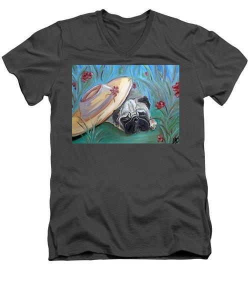 The Garden Pug Men's V-Neck T-Shirt
