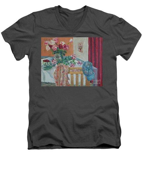 The Gardener's Table Men's V-Neck T-Shirt by Judith Espinoza
