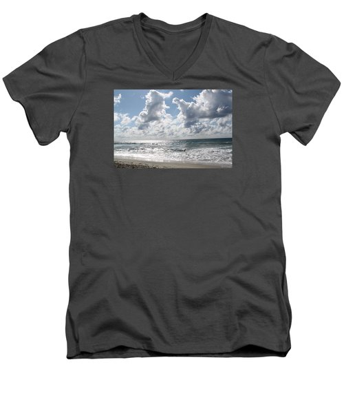 The Gate Way To Heaven Men's V-Neck T-Shirt by Amy Gallagher