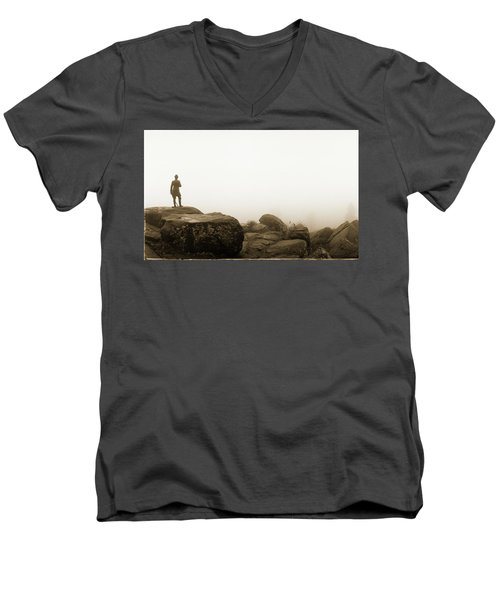The General's View Men's V-Neck T-Shirt by Jan W Faul