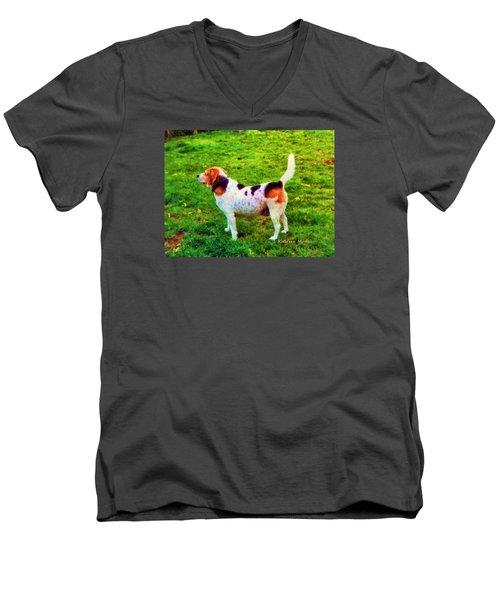 The Gentle Leader Standing Tall Men's V-Neck T-Shirt