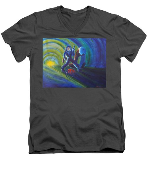 The Getaway Men's V-Neck T-Shirt by Chris Benice
