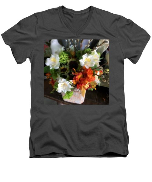 Men's V-Neck T-Shirt featuring the photograph The Gift Of Giving by Peggy Stokes