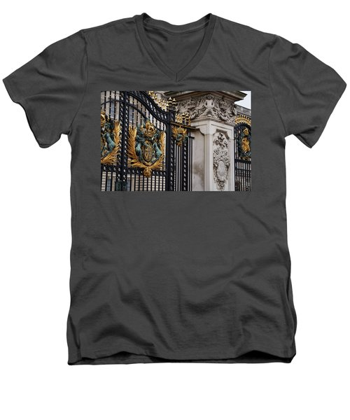 The Gilded Gate Men's V-Neck T-Shirt by Andre Phillips