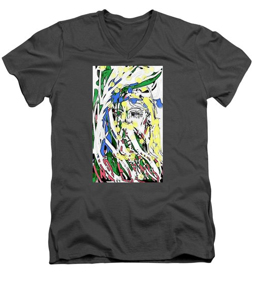 The Girl In Full Bloom Men's V-Neck T-Shirt