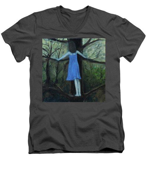The Girl In The Blue Dress Men's V-Neck T-Shirt