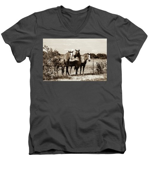 The Girlz  Sepia Men's V-Neck T-Shirt