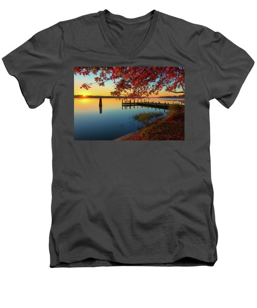 The Glassy Patuxent Men's V-Neck T-Shirt