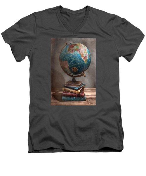 The Globe Men's V-Neck T-Shirt
