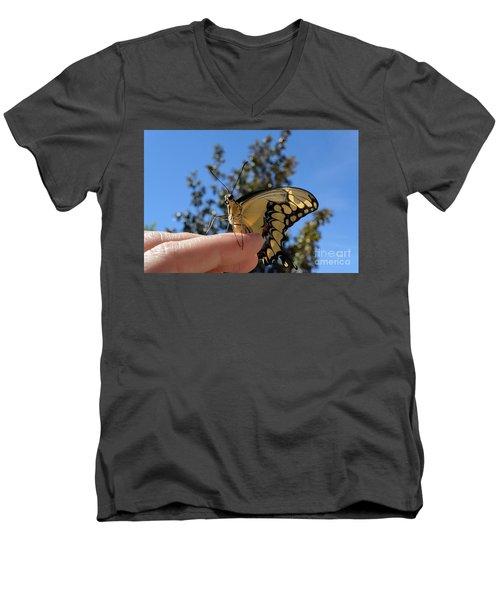 The Glorious Swallowtail  Men's V-Neck T-Shirt