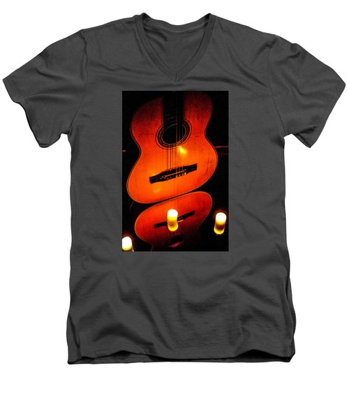 The Glow Of Music  Men's V-Neck T-Shirt
