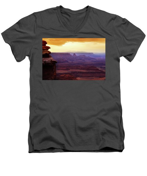 The Gold Light Of Dawn Men's V-Neck T-Shirt