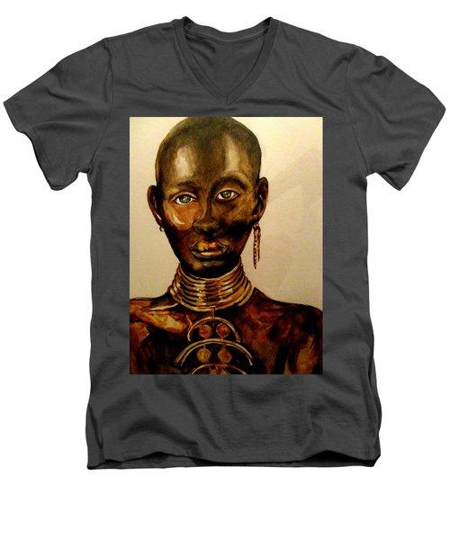 The Golden Black Men's V-Neck T-Shirt