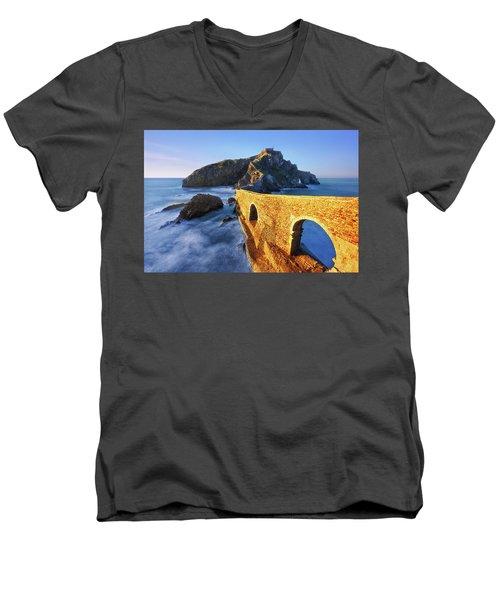 The Golden Bridge Men's V-Neck T-Shirt