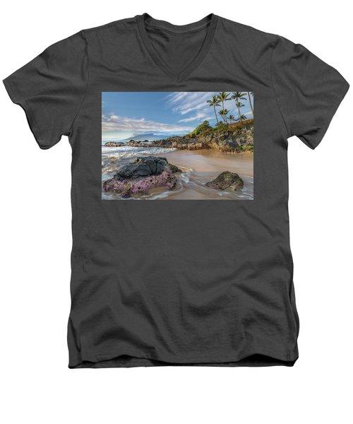 The Golden Hour In Paradise Men's V-Neck T-Shirt
